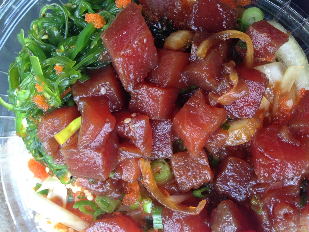 My Poké Bowl. I was too overwhelmed to choose all of my own ingredients, so I chose the Da Kine bowl, featuring tuna
